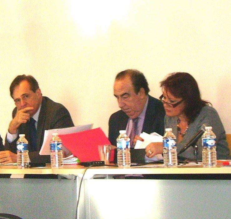 Le Professeur Laurence Scialom du Laboratoire EconomiX lors d'Une Conférence FIDES sur la Régulation des Marchés Financiers et le contrôle de la finance à l'Université Paris Ouest Nanterre La Défense